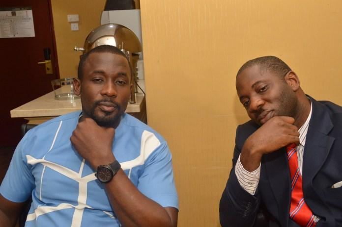 Joseph Benjamin with Seun Olokutueyi