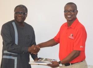 Dr. Saku with Prof. Daniel Asiedu