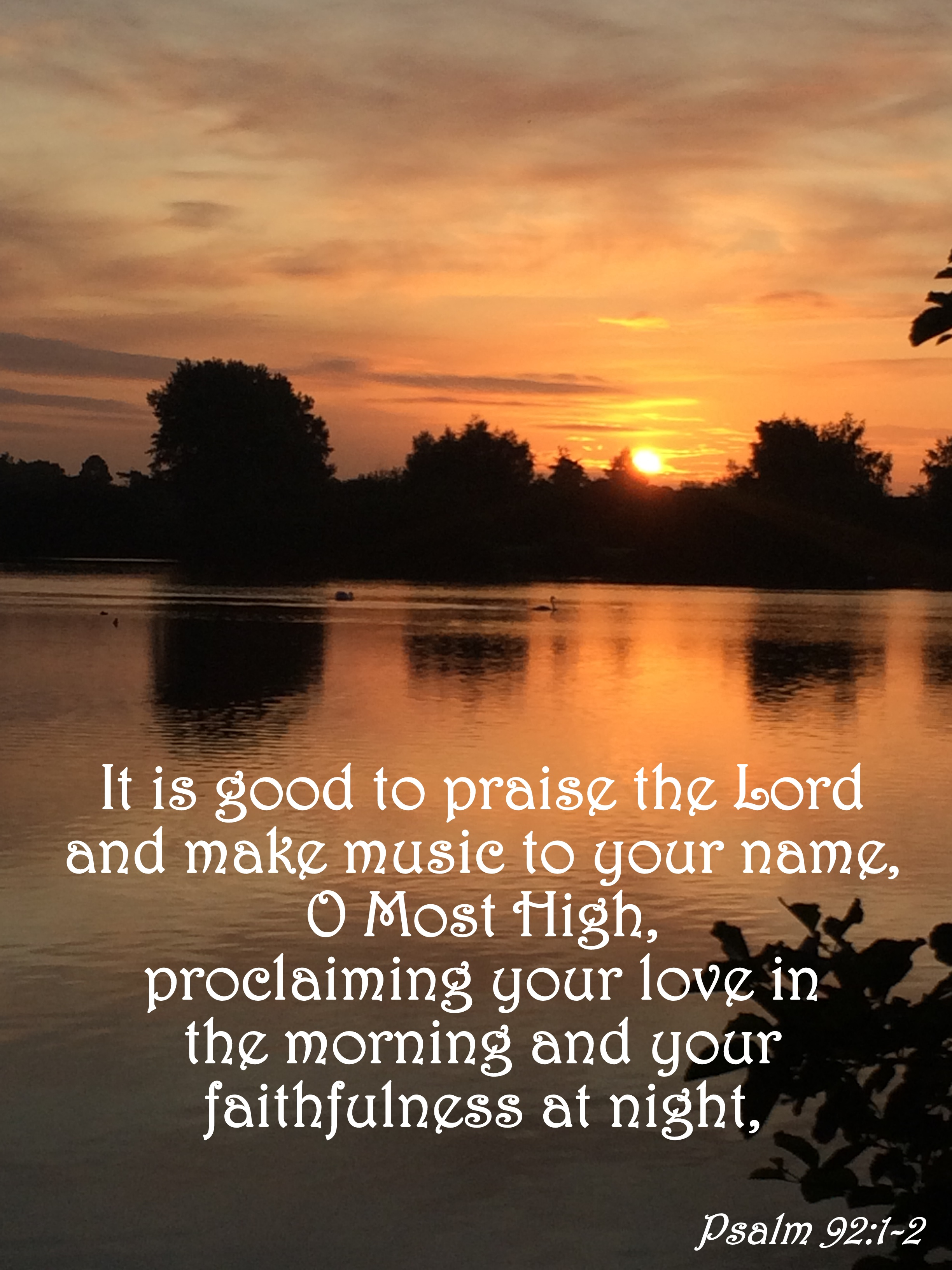Verse Of The Day Psalm 92 1 2
