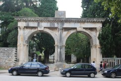The Twin Gates in Pula are some of the few remaining gates after the city walls were torn down