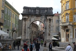 Arch of the Sergians built in the 1st century AD.