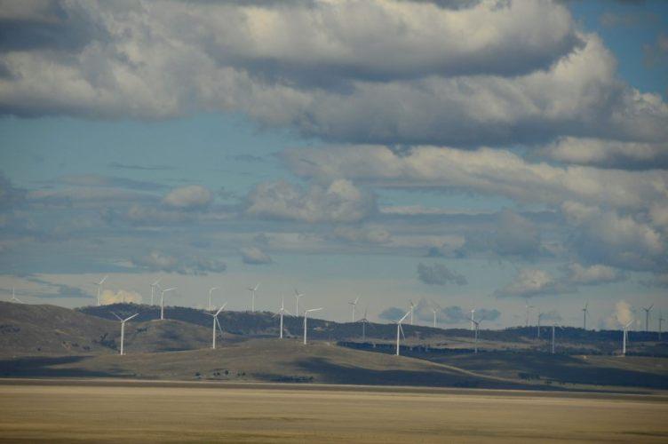 windmills on the way to Jindabyne NSW Australia weekend getaways sydney
