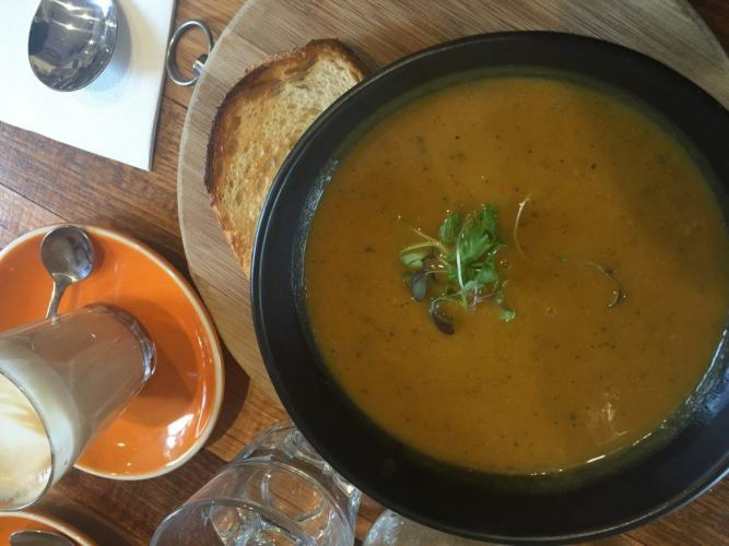 pumpkin soup in mornington