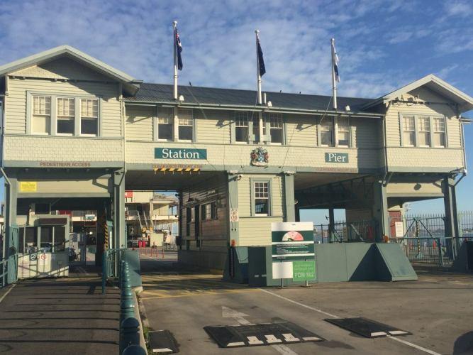 entrance to station pier port melbourne