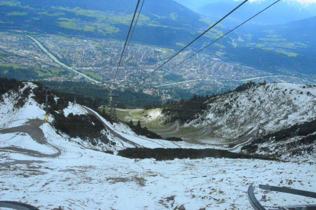 view from nordkette cable car innsbruck