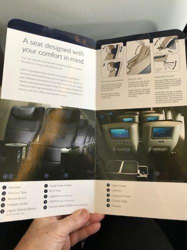 brochure of british airways world traveller plus