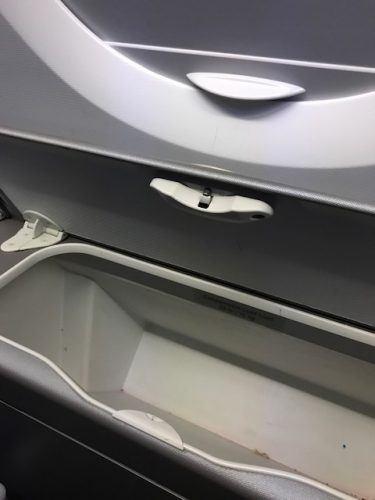 storage locker under window british airways world traveller plus