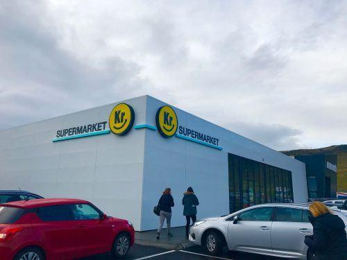 outside KR supermarket Vik Iceland