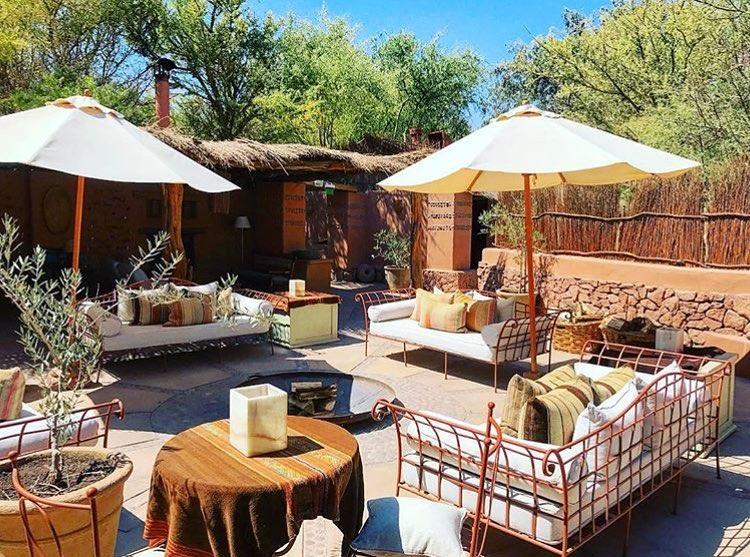 atacama desert boutique hotel outdoor area with couches
