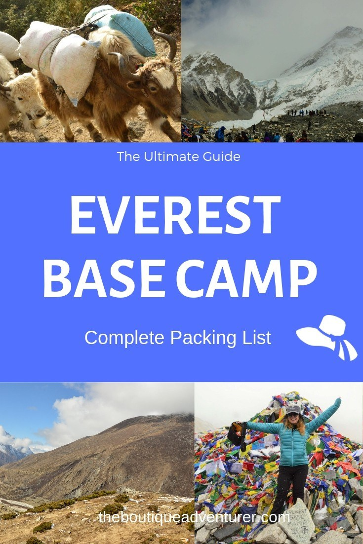 Here is my complete Everest Base Camp Packing List - every single thing I took with me on the Everest Base Camp Trek! Get the right Everest Gear in this complete Trekking Pack List #everestbasecamp #nepal