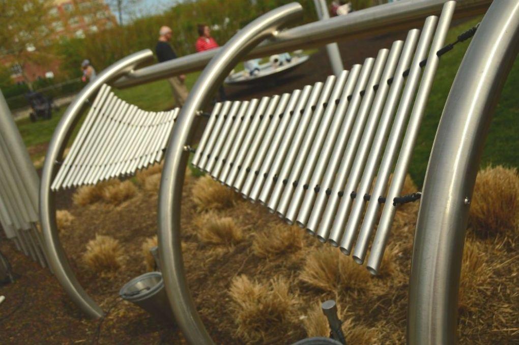 pierces park baltimore xylophone sculpture