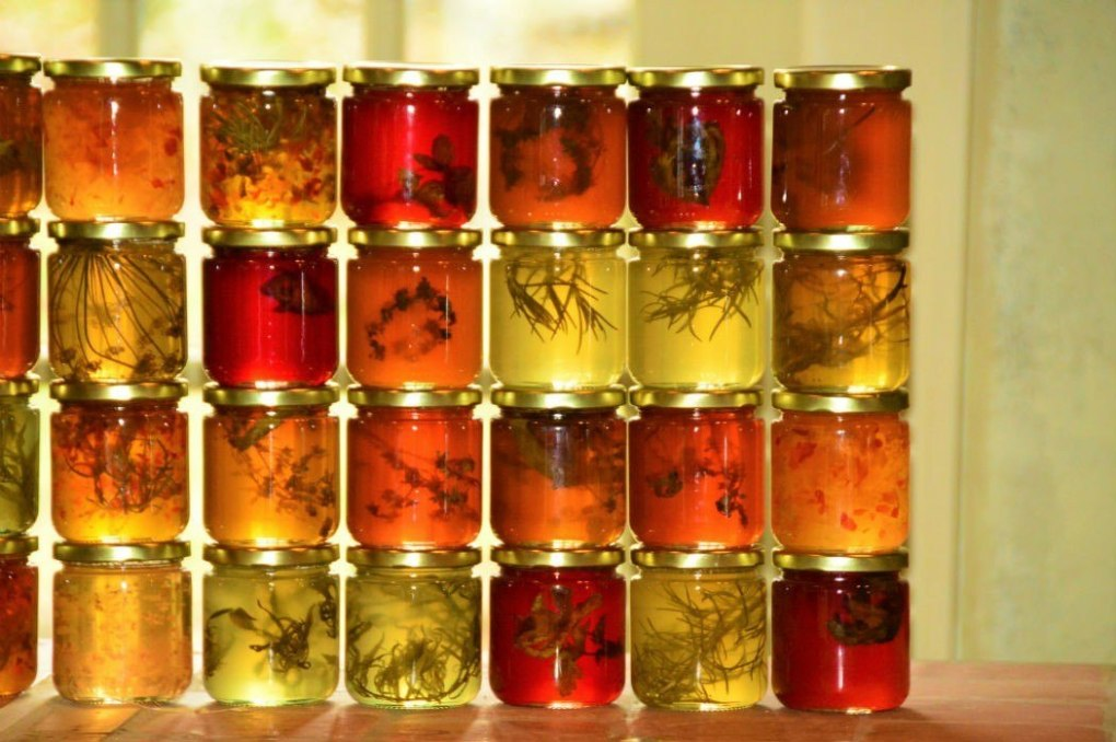 Jars of preserves at Tangled Garden