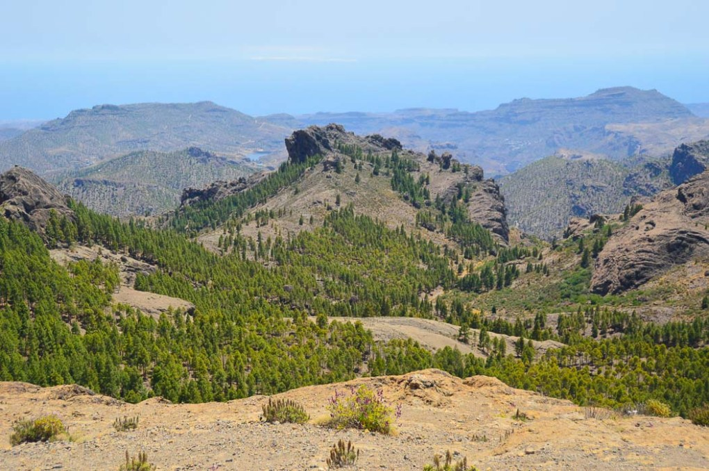 The view from the walk up to Roque Nublo Gran Canaria