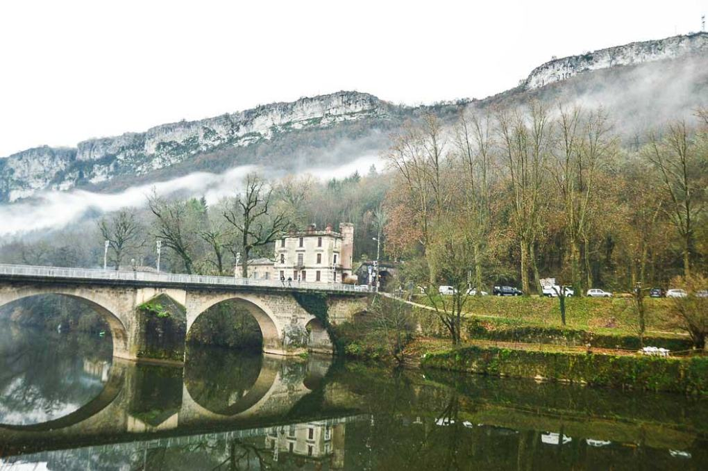View across the river from Saint Antonin Noble Val