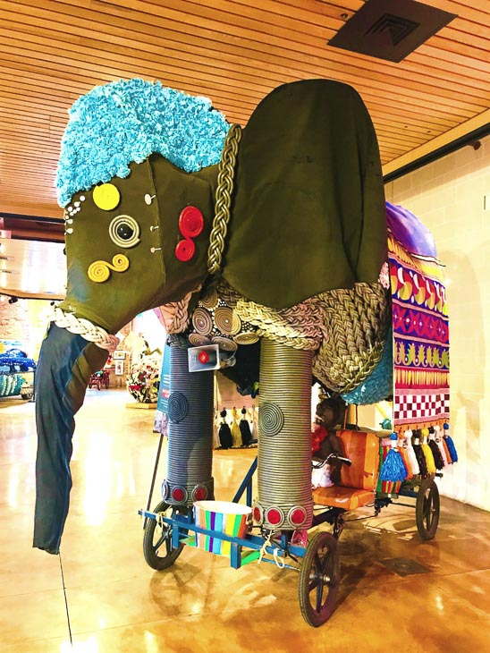 elephant float at the american art visionary museum