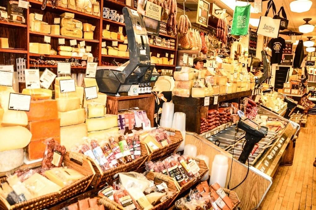 Di Bruno's cheese shop in the Italian market Philadelphia