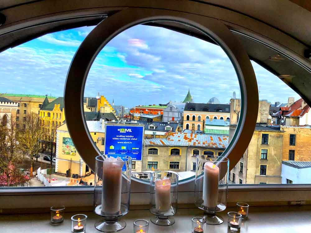 View of Riga from the 6th floor of Hotel Le Chevalier