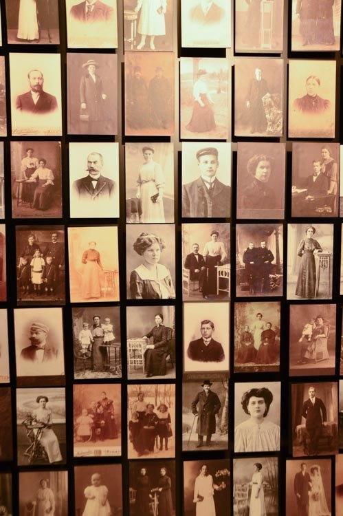 Old photos at the Riga Art Nouveau Museum
