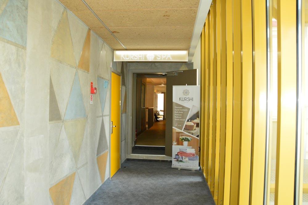 Entrance to the spa at Kurshi Hotel Jurmala Latvia