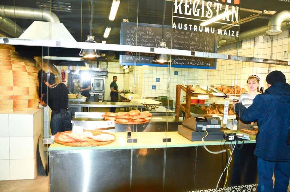 uzbekistan bakery at Riga Central Market