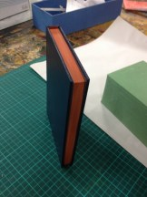 Benn's edge painting on a case binding in term 4 2014