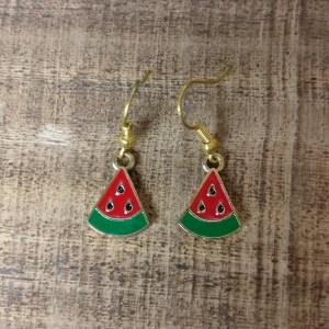 Watermeloen oorhangers