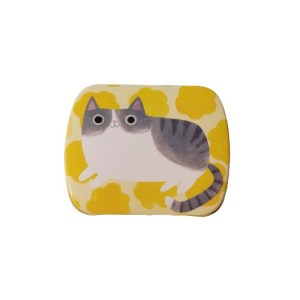 Planet Cat mini blikken doos geel