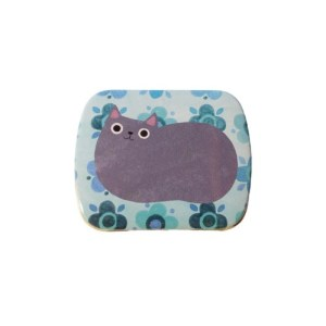 Planet Cat mini blikken doos lichtblauw
