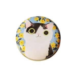 Planet Cat kleine ronde blikken doos zwart/wit