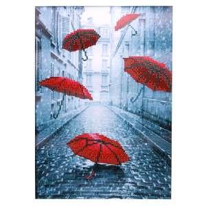 Diamond painting rode paraplu's