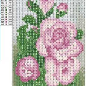 Diamond painting roze rozen