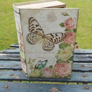 Opbergboek boekendoos Vlinders large voorkant