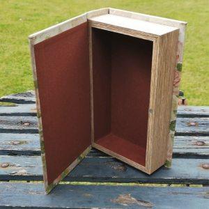 Opbergboek boekendoos Vlinders small achterkant