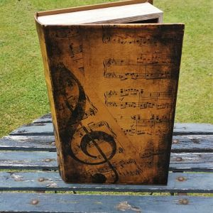 Opbergboek boekendoos XL muziek voorkant