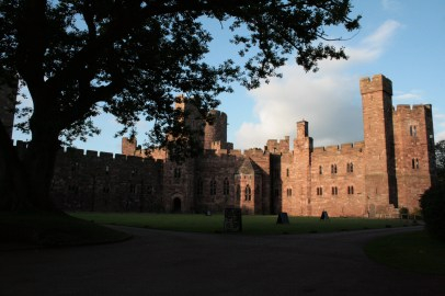 Outside Peckforton Castle in Cheshire, England