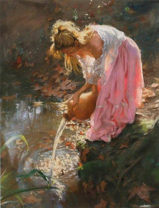 The Paintings Of Vicente Romero Redondo Lovely Women