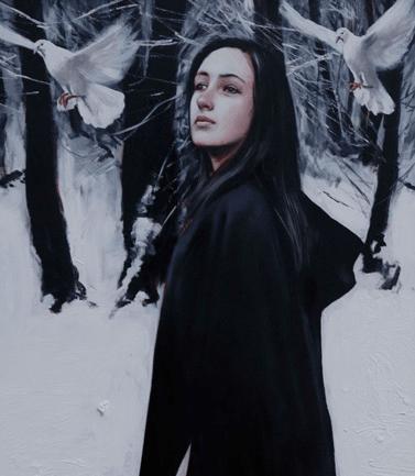 painting woman Gerard Burns 4