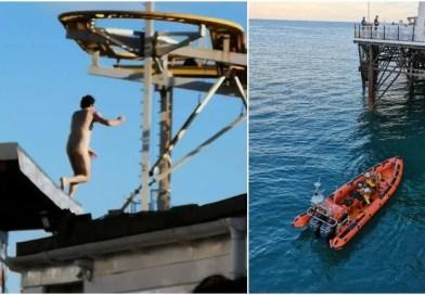 Naked Man Wreaks Havoc on Pier