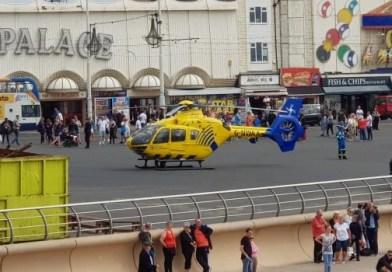 Man injured in pier fall