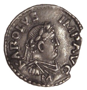 A coin showing your ancestor, Charlemagne Photo: Fallschirmjäger, commons.wikimedia.org