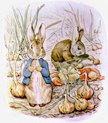 Peter Rabbit and Benjamin Bunny from The Tale of Benjamin Bunny (Photo: Wikimedia Commons, photo in the public domain)
