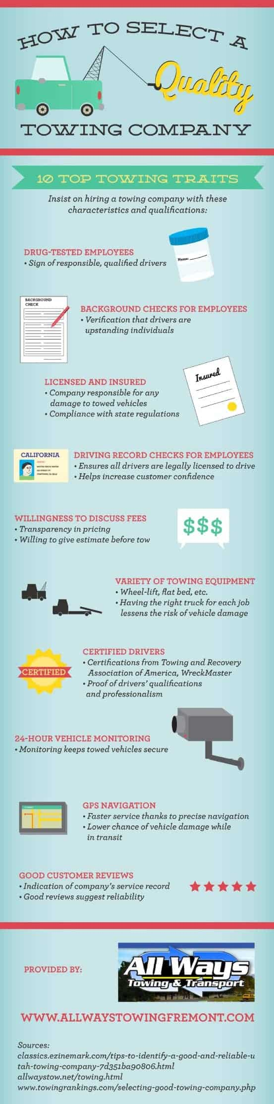select towing company infographic