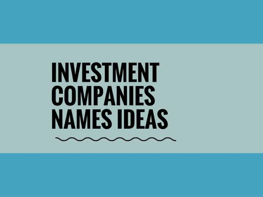 Creative investment company names wolfond investments definition