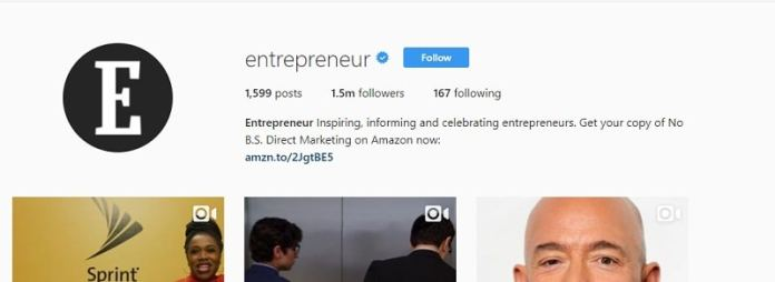 instagram account for Entrepreneurs