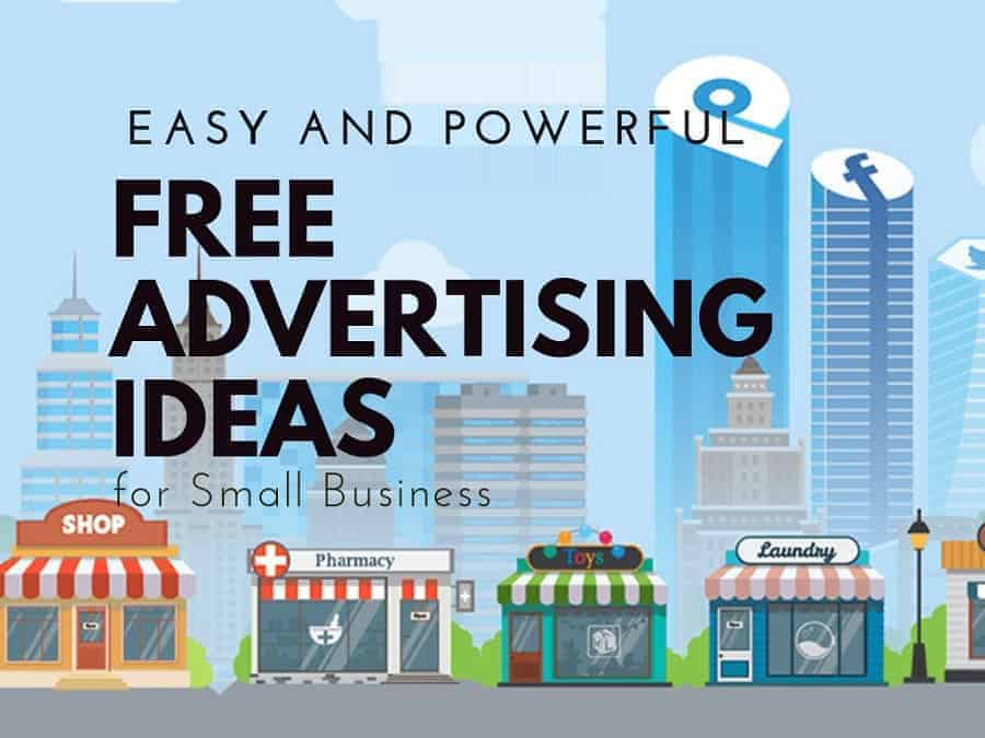 8 free easy advertising ideas for your business with infographic