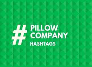 hashtags for pillow Company