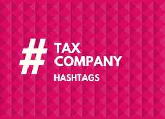 hashtags for tax company
