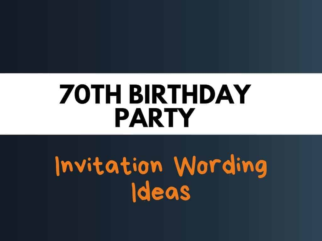 38 best 70th birthday party invitation
