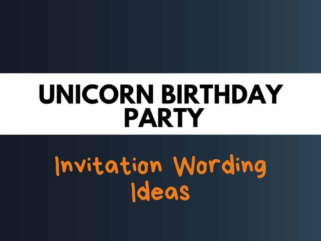 best unicorn birthday party invitation