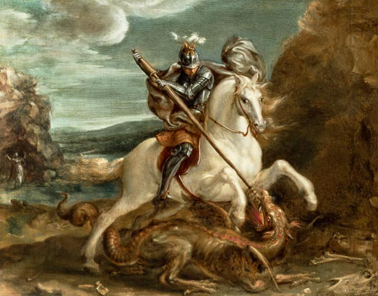 'St. George Slaying The Dragon' by Hans Von Aachen